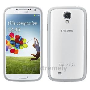 Genuine Samsung Protective Cover Plus Original Hard Shell Case Galaxy S4 White