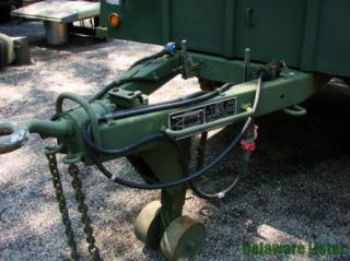 Unissued Military Truck Utility Cargo Trailer M105A2 with Top M35 M939