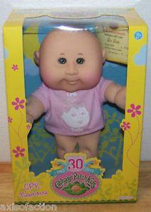 "Cabbage Patch Kid Newborns 30th Anniversary Doll Pink Smile 8"""