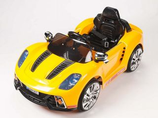 Porsche 918 Style Kids 12V Electric Powered Wheels Ride on Car RC Remote Yellow