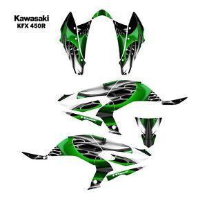Kawasaki KFX450R ATV Graphic Decal Sticker Kit 4444GREEN