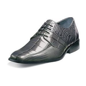 Stacy Adams Pietro Mens Gray Leather Dress Shoe 24675 020