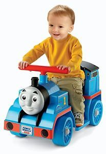 Kids Fisher Price Thomas Tank Engine Train Power Wheels Ride on Toy w 6V Battery
