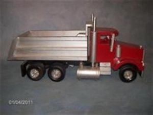 Hand Built All Wooden Toy Dump Truck