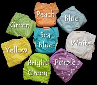 Bamboo Baby Cloth Diaper OS Pocket Organic Bright Green