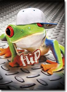 Hip Hop Frog Stand Out Pop Up Birthday Card Greeting Card by Avanti Press