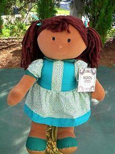 "Dan Dee Kool Kids Black African American Girl Rag Doll 17"" Doll Plush Stuffed"