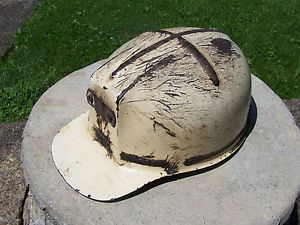 """RARE"" Vintage Child's MSA Comfo Cap Low Vein Miners Hard Hat Coal Mining Stripe"