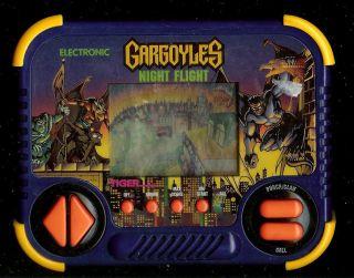 1990s Gargoyles Night Flight Tiger Electronic Handheld Arcade Vintage Video Game