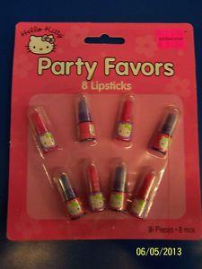 Hello Kitty Retro Sanrio Kids Birthday Party Favor Toy Plastic Mini Lipsticks