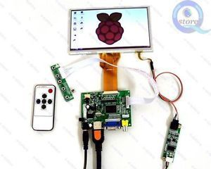 "DIY Monitor for Raspberry Pi HDMI VGA 2AV LCD Driver 7"" AT070TN92 Touch Screen"