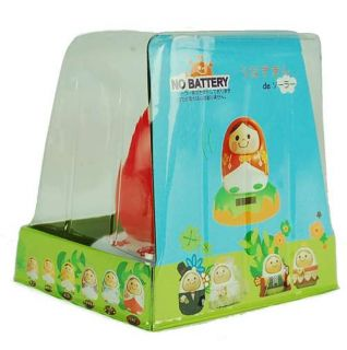 "Solar Toy Red Nesting Doll Matryoshka Russian Eco Power Bobble Buddy Kids 3 5"""