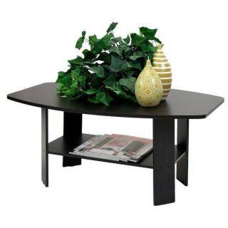 Coffee Table Espresso Finish Furniture Room Decor Chair Wood Modern Design End