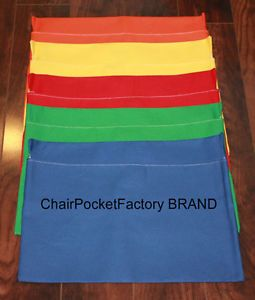 "Set of 25 Medium Chair Pockets Seat Desk Sack Any Color Fits Chairs 13"" Wide"