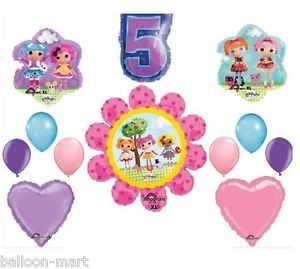 5th Birthday Lalaloopsy Balloons Heart Party Decorations Supplies Fifth Rag Doll