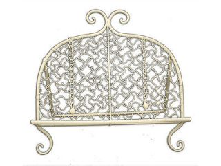 French Cream Recipe Book Holder Metal Rack Scroll Stand Shabby Kitchen Display