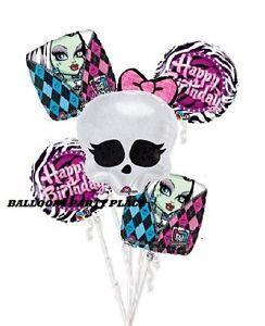 Monster High Skullette Birthday Party Supplies Decorations Balloons Black Zebra