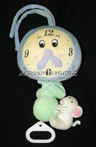 Kids II Hickory Dickory Mouse Ran Up The Clock Musical Crib Pull Plush Toy 1998