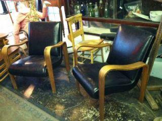 RARE Lounge Chair 2 Chairs Alvar Aalto Mid Century Modern Thonet