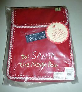 Pottery Barn Kids Red Letters to Santa Holiday Christmas Chair Backer