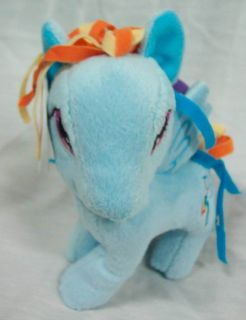 "My Little Pony Soft Blue Rainbow Dash 6"" Plush Stuffed Animal Toy New"