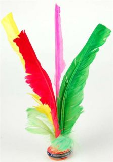 Chinese Jianzi Multicolor Feather Kicker 10 Lot Toy Hack Sack Kids Party Game