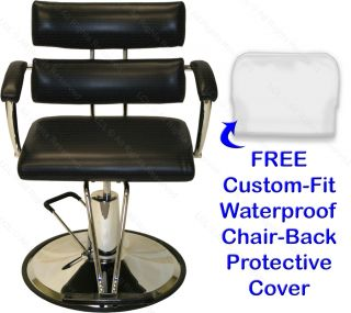 Extra Wide Hydraulic Barber Chair Station Bowl Dryer Tray Beauty Salon Equipment