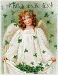 20 Christmas Irish Angel Shamrock Greeting Post Cards Printed US or Canada