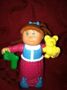 Cabbage Patch Kids Mini Christmas Doll Cake Topper Stocking Stuffer Toy Girl