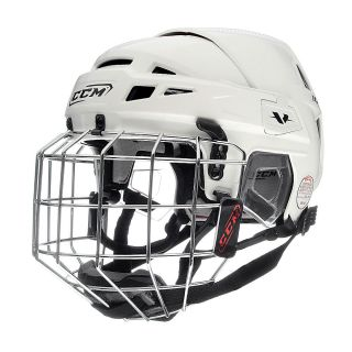 CCM Vector 10 Hockey Helmet with Cage Small White