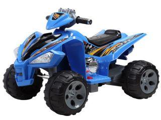Kids Quad ATV 4 Wheeler Ride on Power 2 Motors 12V Traction Wheels Blue