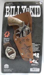Billy The Kid Solid Die Cast Metal Toy Pistol Cap Gun Licensed Parris 4617
