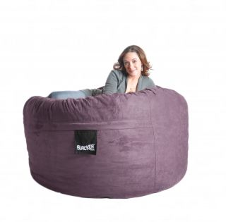 5' Plum Purple Large Foam Bean Bag Chair Sac Love Microfiber Girls Slacker Sack