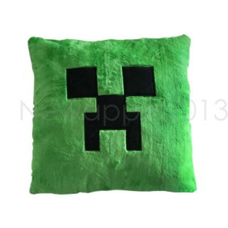 Green Monster Minecraft Creeper Character Soft Toy Stuffed Animal Doll Pillow