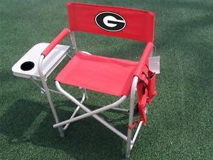 University of Georgia Bulldogs Rivalry Directors Folding Chair with Side Table