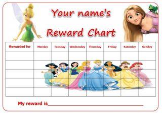 Personalised Disney Princess Reward Potty Training Chart 9