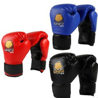 High Quality PU Kids Cartoon Sparring Boxing Gloves Training 3 Colors AGE5 15