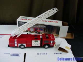 Vintage 1986 Hess Fire Ladder Truck Bank in Original Box New