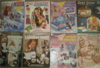 LOT 8 Barbie Dream HOME Furniture Plastic Canvas Books