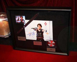 Resident Evil Prop Autopsy Knife UACC COA Signed Milla Jovovich DVD