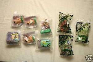 1996 and 2000 Scooby Doo Burger King Kids Club Toys Lot of 9 Shaggy Scrappy