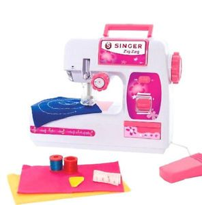 New Kids Girls Singer Zigzag Chainstitch Sewing Machine Toy Christmas Gift