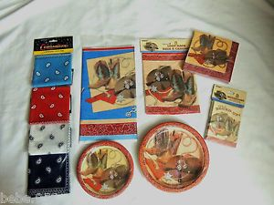New Western Country Cowboys ` Just Choose Your Item Party Supplies