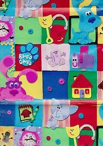 Off Roll Blue's Clues Gift Wrap Paper Birthday Party Supplies Tickety Tock Pup