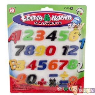 Children Kids Educational Toy 26pcs Letter Alphabet Number Sign Fridge Magnet