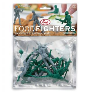 Food Fighters Party Picks Army Men Toothpicks Action Figures Toys Military