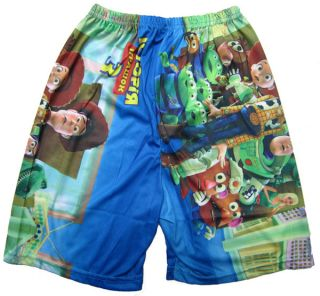 Blue 2pcs Suit Window Buzz Lightyear Toy STORY3 Boy Kids T Shirt Clothes Pants