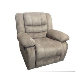 Recliner Chair Glider Micro Fiber Power Living Roon Home Recling Furniture Grey