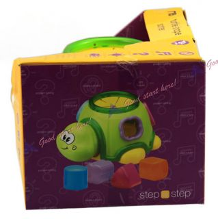 Light Sound Shake Turtle Shape Sorter Musical Baby Intelligence Toys WJ2201