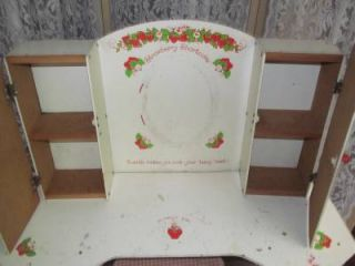 Vintage Child's Size American Greeting Strawberry Shortcake Vanity Set